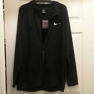 NWT Nike Dri Fit Hoodie Sweatshirt XL Woven Swoosh